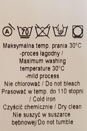 przepis prania