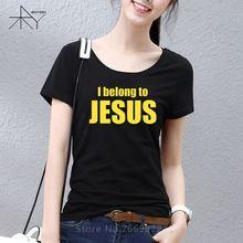 Damska koszulka 'I belong to Jesus'