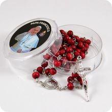 Perfumowany różaniec z Papieżem Franciszkiem