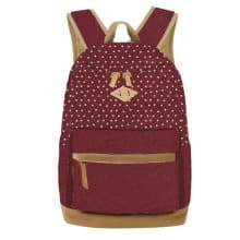 Plecak dla dziewcząt w groszki