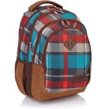 Plecak z motywem kolorowych pasów