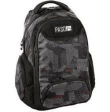 Szaro-czarny plecak dla chłopców