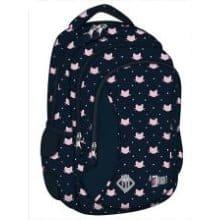 Trzykomorowy plecak z motywem kocim